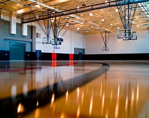 led light case study gymnasium
